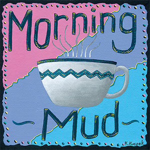 Coffee Lover tiles - Morning Mud