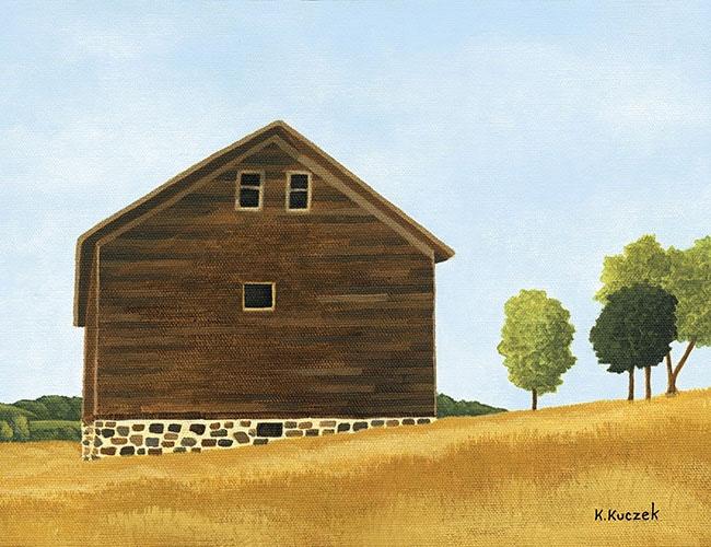 Faithorn Barn painting step 4 Finished