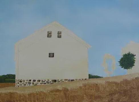 Faithorn Barn painting step 1