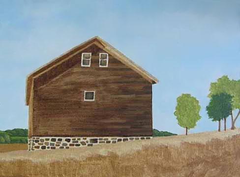 Faithorn Barn painting step 2