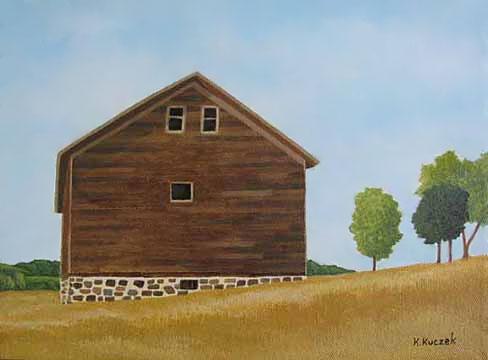 Faithorn Barn painting step 3