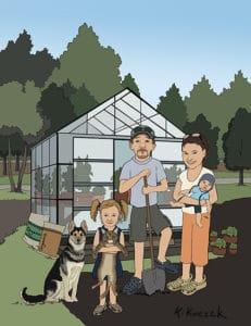 Family Portrait - Organic living