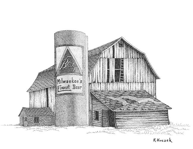 Pen & ink - Blatz Barn