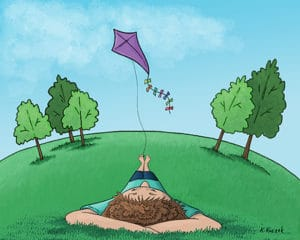 Lazy Afternoon kite flying