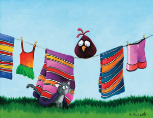Silly Bird series - clothesline
