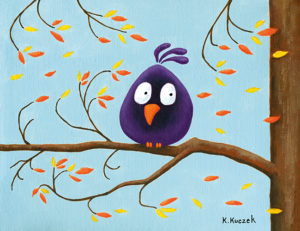 Silly Bird series - Autumn wind
