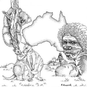 Pen & ink - Australia collage