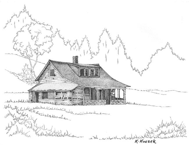 Pen & ink - Pembine house