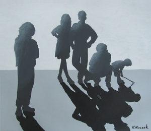 Acrylic - silhouette study