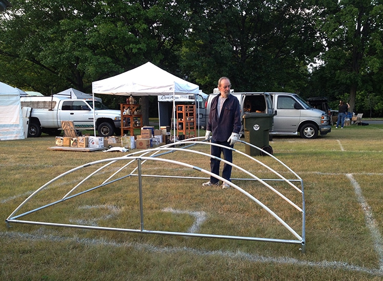 George with tent frame top