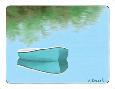 Still Water notecard boat